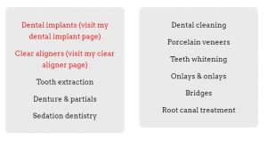 List-Dental-Services