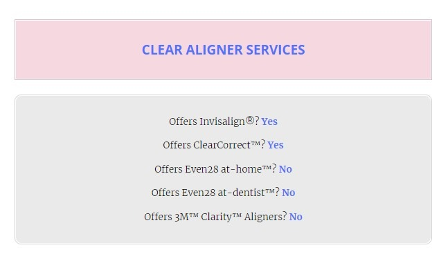 List-clear-aligner-services